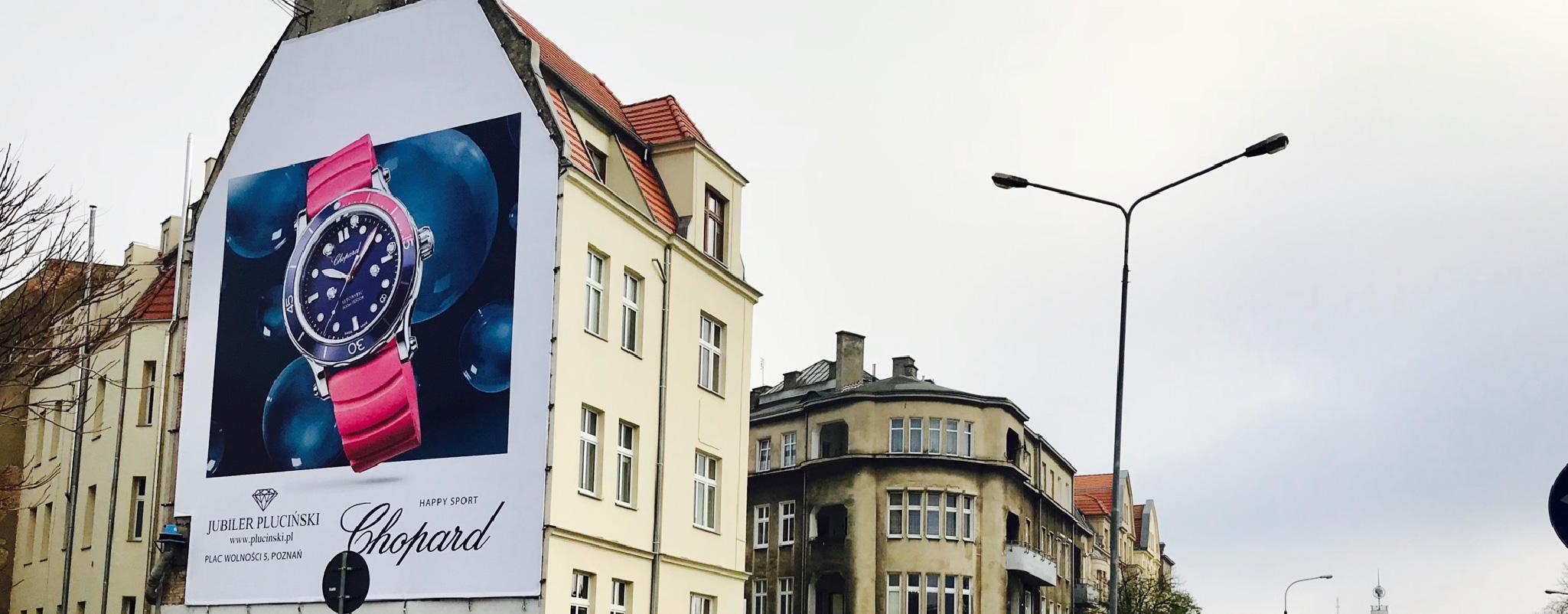 Reklama wielkoformatowa Poznań Zeylanda Plucinski