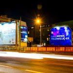 Oświetlona powierzchnia reklamowa Rynek Śródecki Poznań Inea