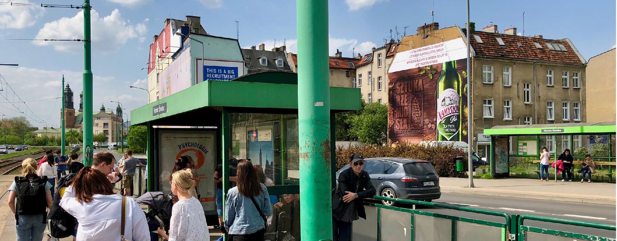 Reklama outdoor Poznań Rynek Śródecki Namysłów