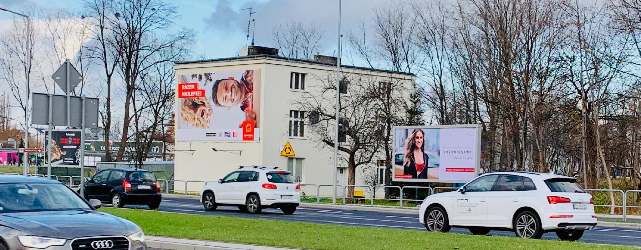 Duża powierzchnia reklamowa Poznań Krzywoustego Centrum Franowo