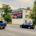 Oświetlona powierzchnia reklamowa-Poznań Krzywousetego Indian Stek
