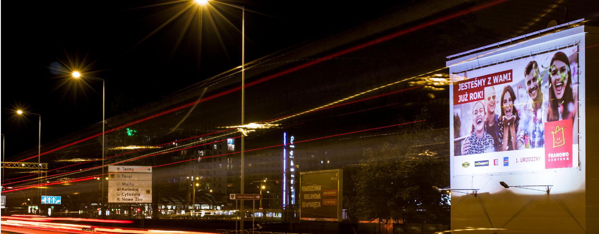 Oświetlony Wielki Format Poznań-Krzywoustego Centurm Franowo