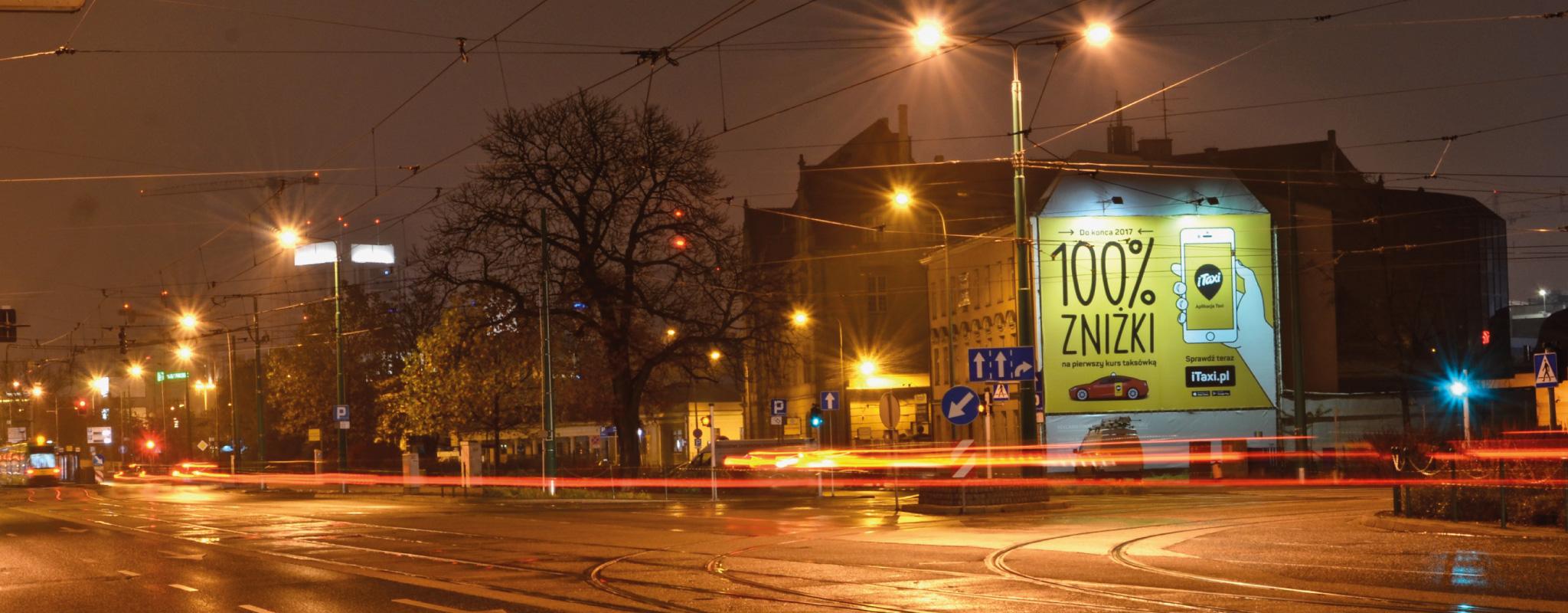 Głogowska 19 Wielki Format Poznań - Podświetlana iTaxi
