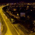 Powierzchnia reklamowa widziana z drona ul. Krzywoustego