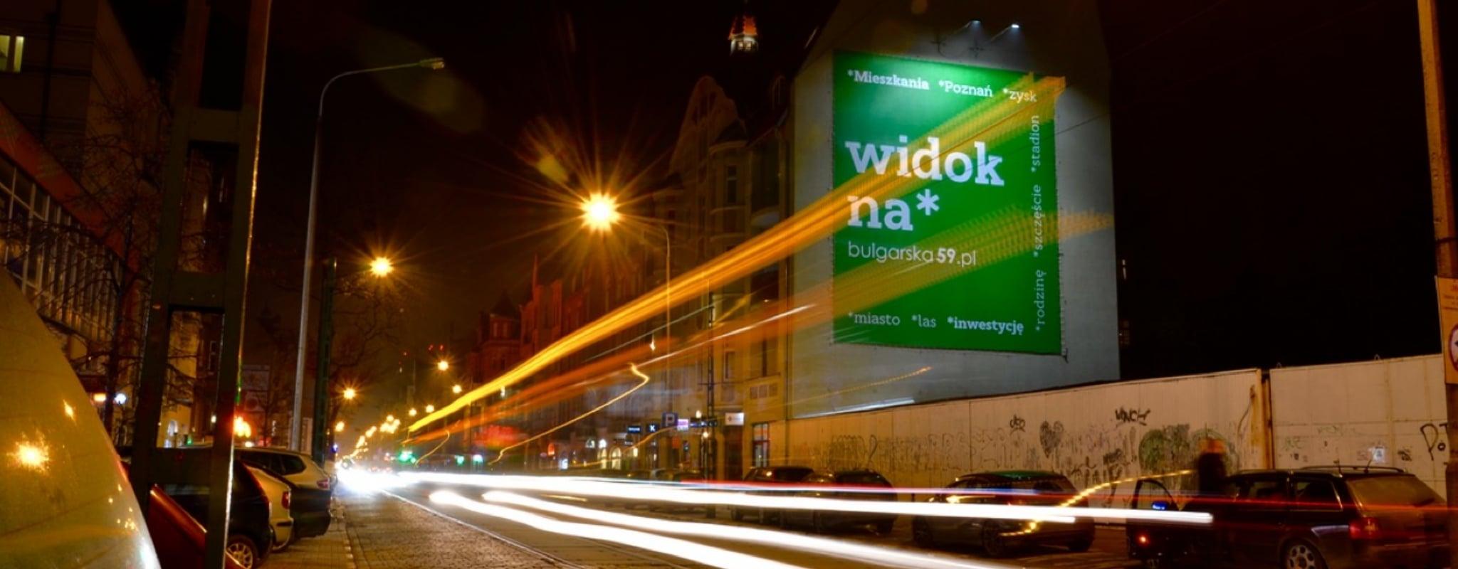 Reklama Wielki Format Poznań Dąbrowskiego 33 Rynek Jeżycki