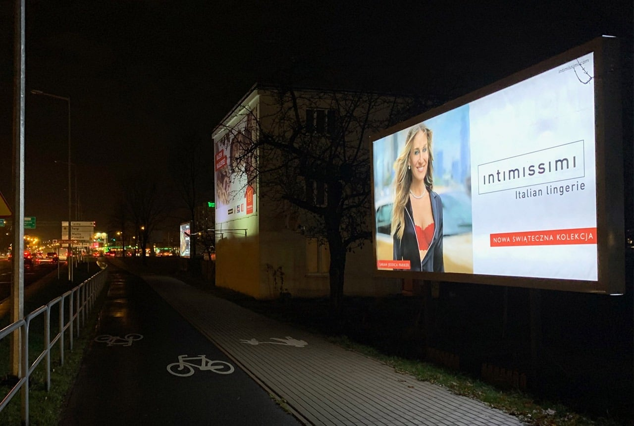 Backlight w nocy Posnania Poznań