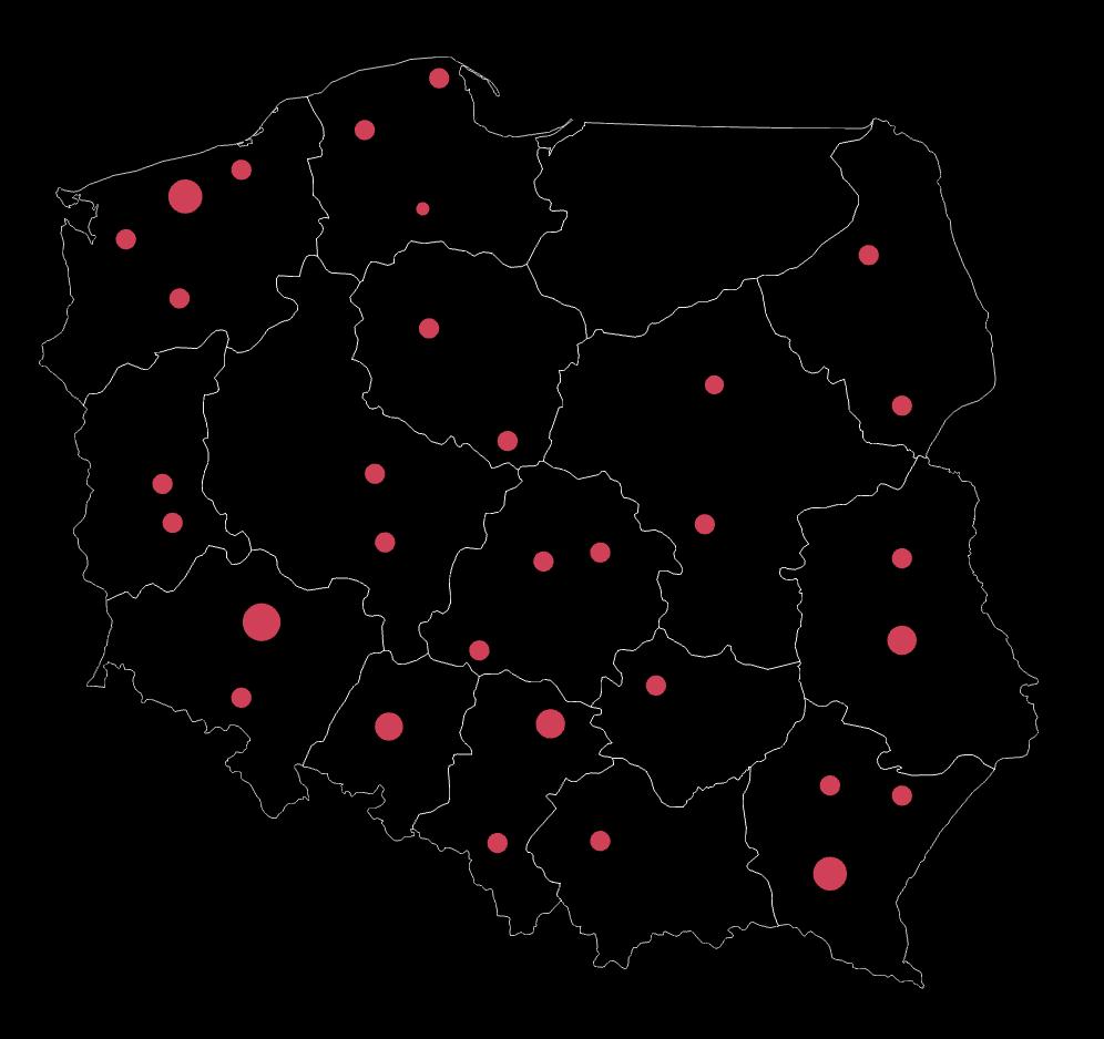 Mapa powierzchni reklamowych do wynajmu