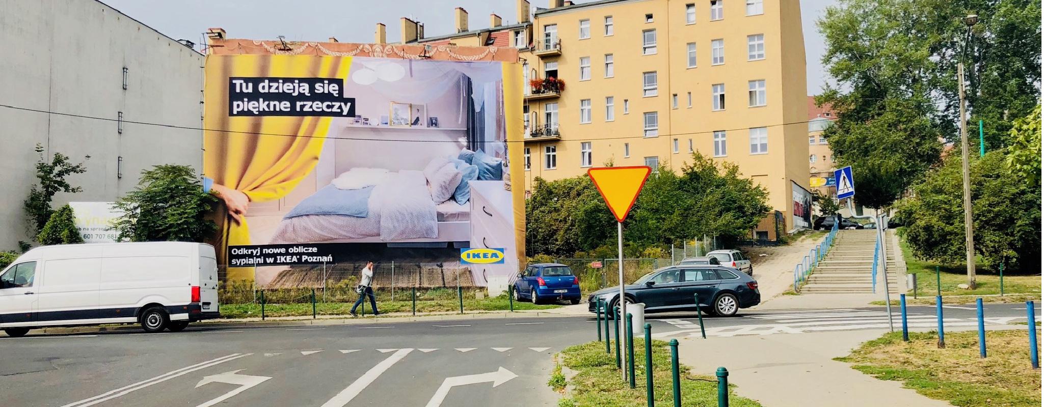 Duża powierzchnia reklamowa Dolna Wilda Wschód Ikea