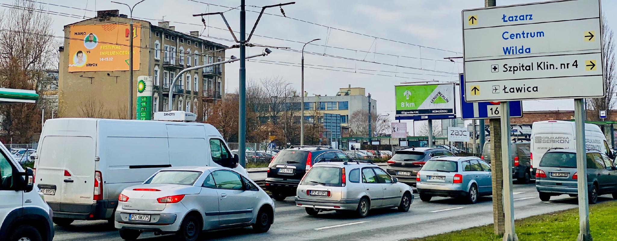 Oświetlona powierzchnia reklamowa Hetmańska Poznań festiwal