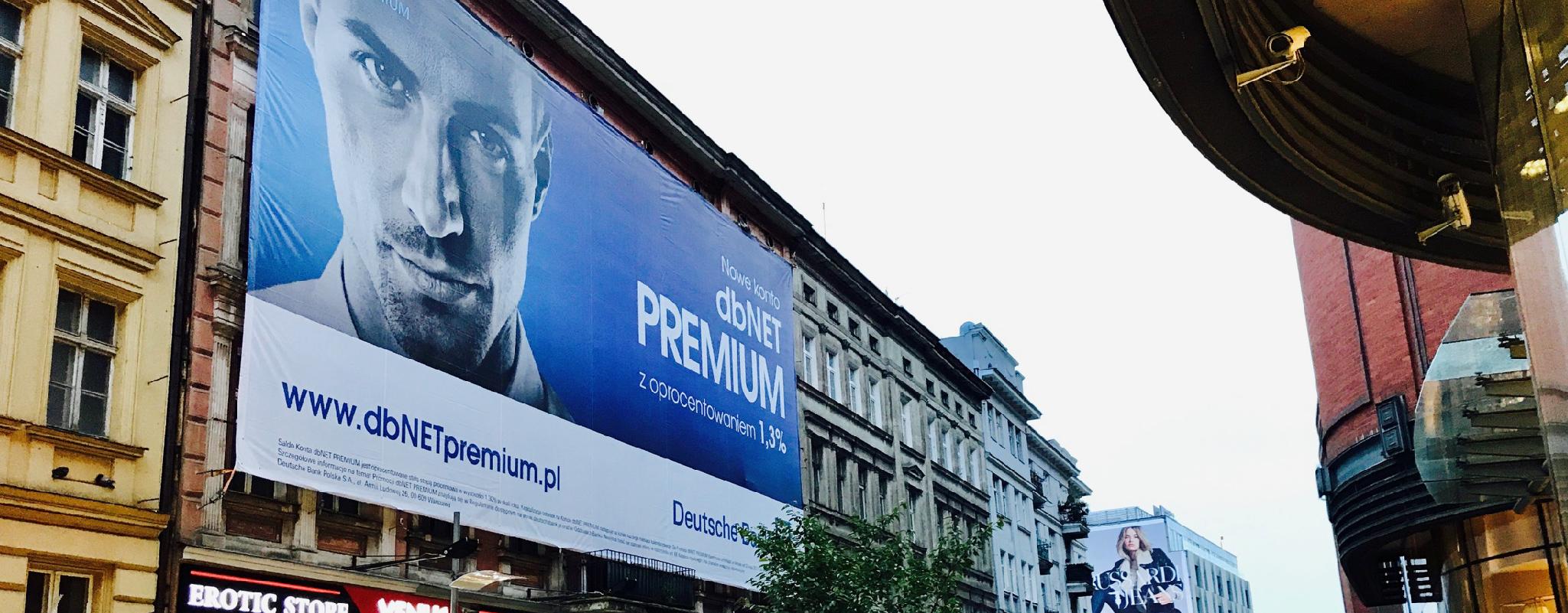 Powierzchnia reklamowa Półwiejska Poznań Deutsche Bank
