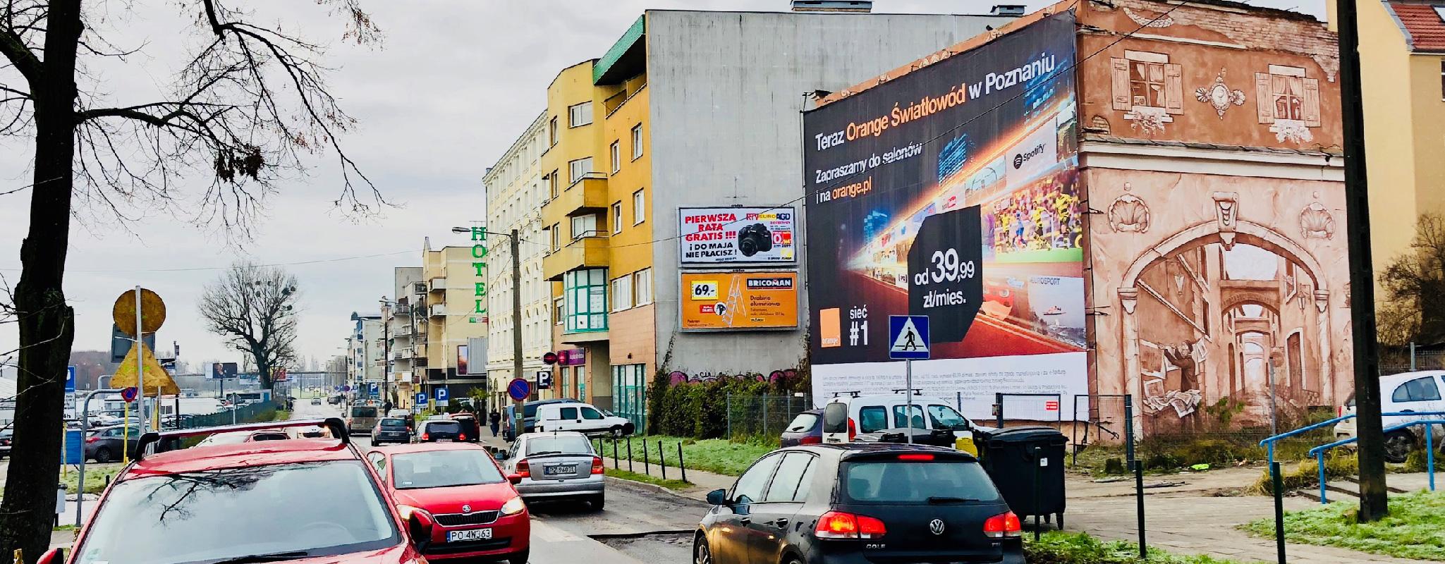 Powierzchnia wielkoformatowa Poznań Dolna Wilda Wschód Orange