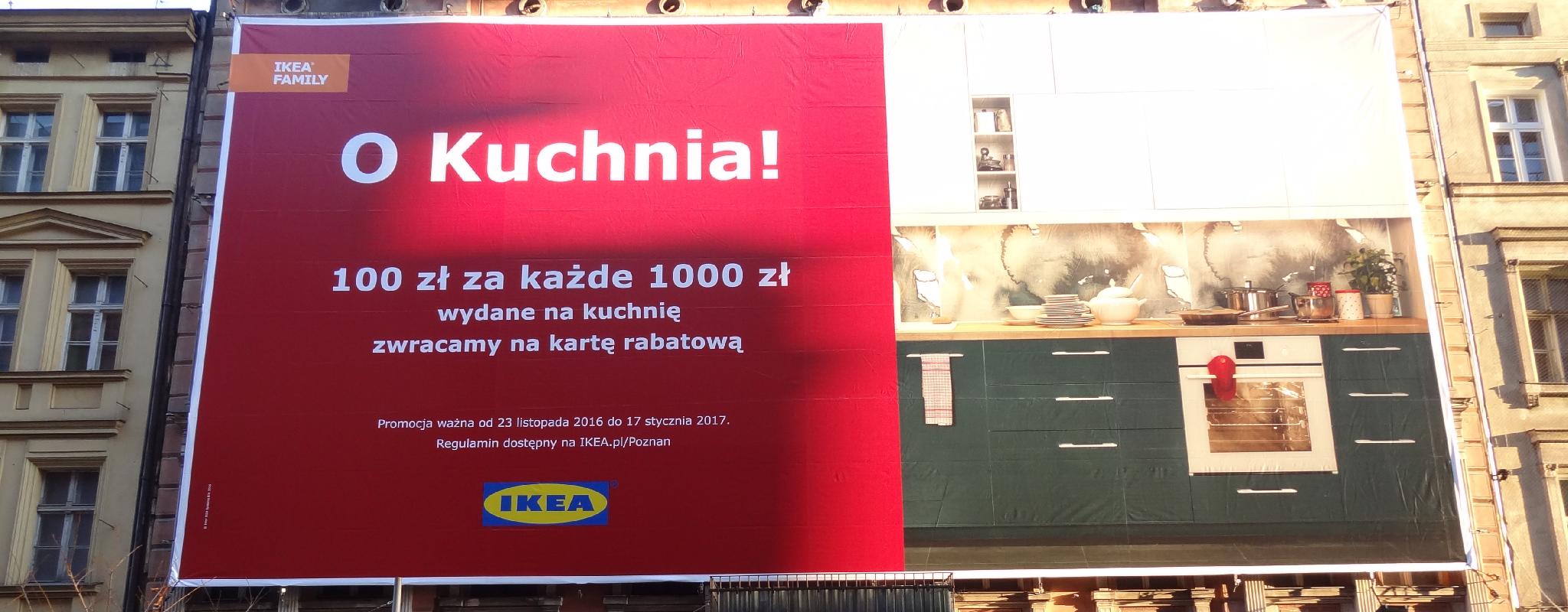 Powierzchnia wielkoformatowa Poznań Półwiejska Ikea