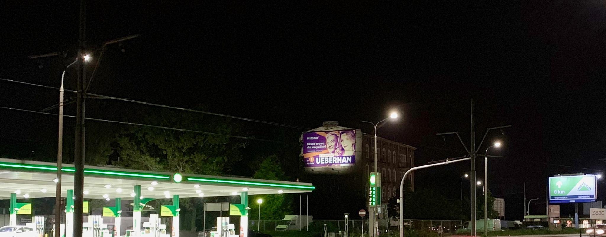 Wielki Format Poznań Hetmańska Kampania Wiosna noc