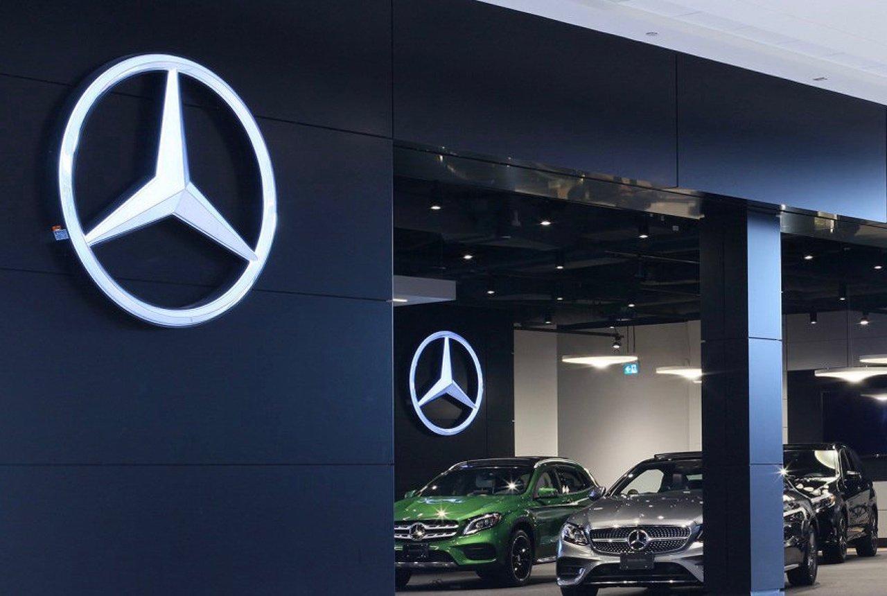 Oznakowanie firmy Mercedes