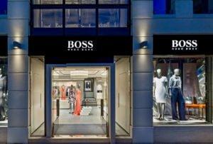 Oznakowanie przestrzenne salonu Boss