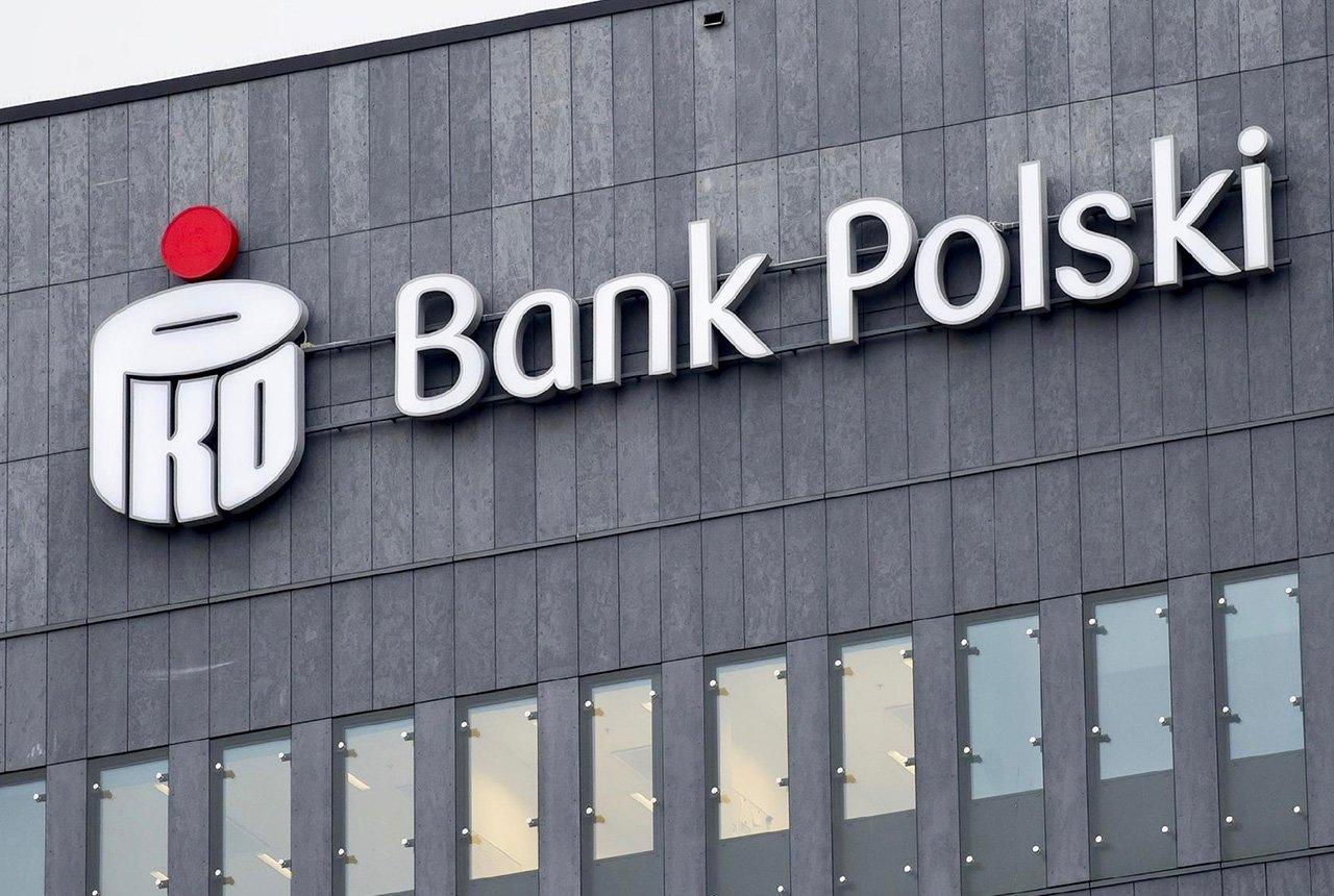 Oznakowanie przestrzenne banków - Bank Polski PKO