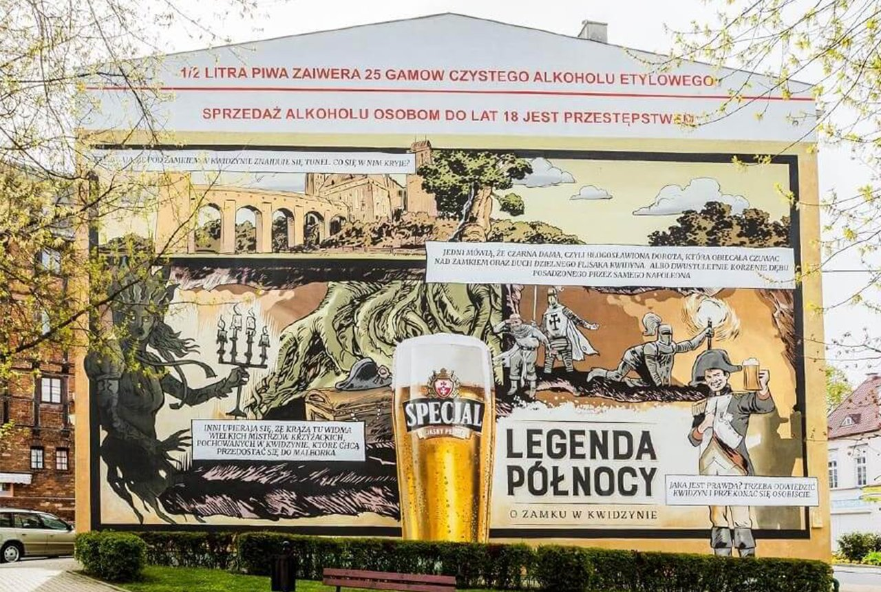 Mural reklamowy w centrum