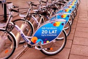 reklama na rowerach poznan